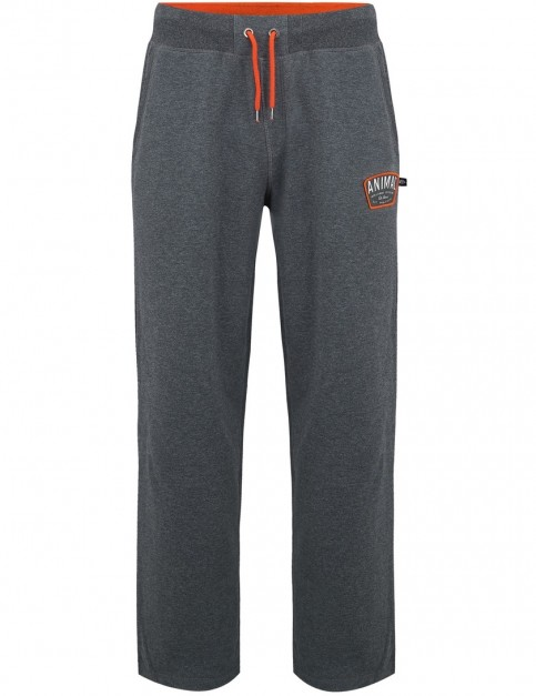 Animal Asher Track Trousers in Dark Charcoal Marl
