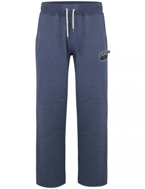 Animal Asher Track Trousers in Dark Navy Marl