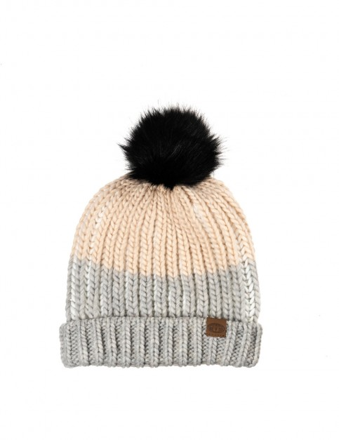 Animal Avora Bobble Hat in Grey Marl