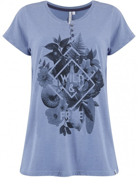 Animal Avrilli Short Sleeve T-Shirt in Dusty Blue Marl