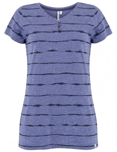 Animal Ayiti Short Sleeve T-Shirt in Dusty Blue Marl