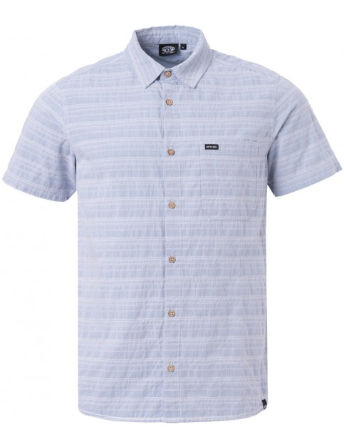 Animal Bahamia Short Sleeve Shirt in Chambray Blue