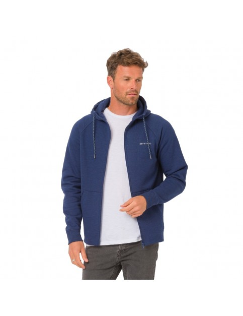 Animal Basso Zipped Hoody in Deepest Blue Marl