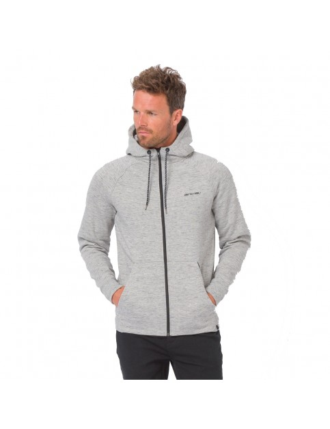 Animal Basso Zipped Hoody in Grey Marl