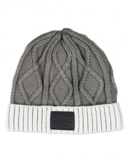Animal Bear Beanie in Steel Grey