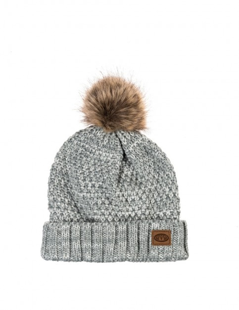 Animal Becki Bobble Hat in Grey Marl