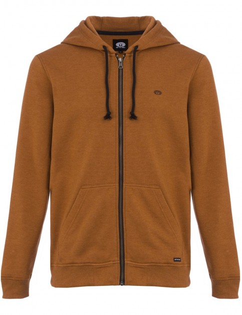 Animal Bedrock Zipped Hoody in Golden Brown Marl