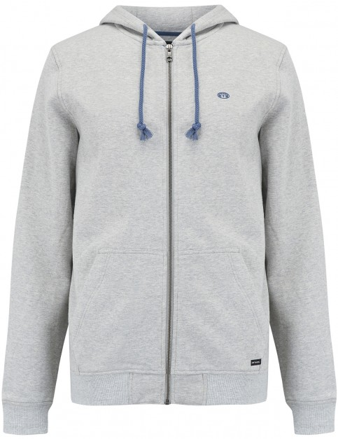 Animal Bedrock Zipped Hoody in Grey Marl