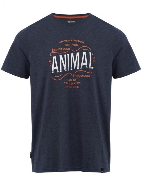Animal Bennett Short Sleeve T-Shirt in Dark Navy Marl