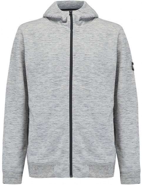 Animal Bevan Full Zip Fleece in Light Grey Marl
