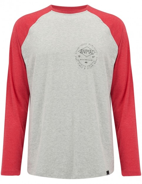 Animal Bingham Long Sleeve T-Shirt in Rich Red Marl
