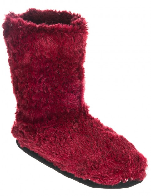 Animal Bollo Slippers in Bordeaux Red