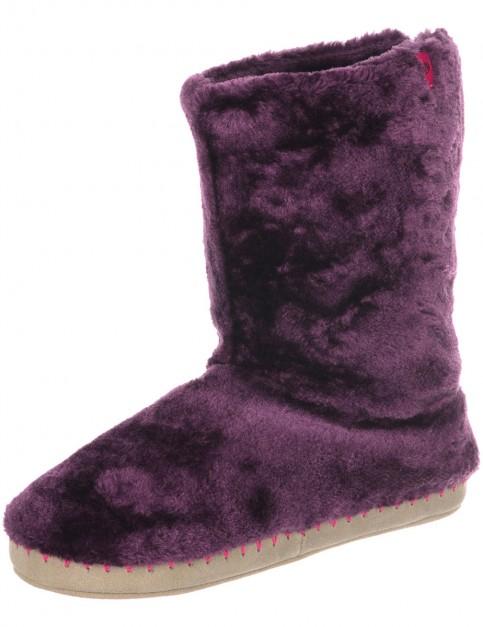 Animal Bollo Slippers in Dark Berry Purple