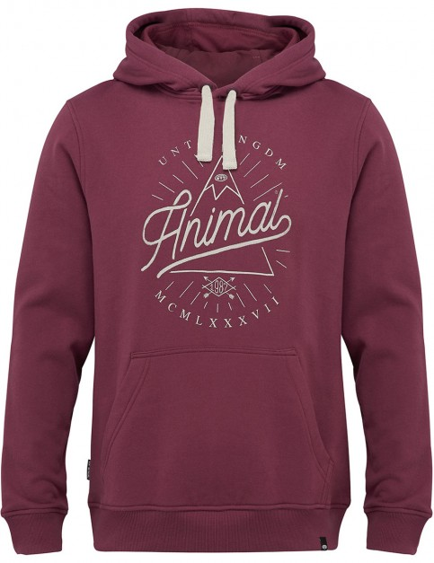 Animal Booth Pullover Hoody in Mauve Purple