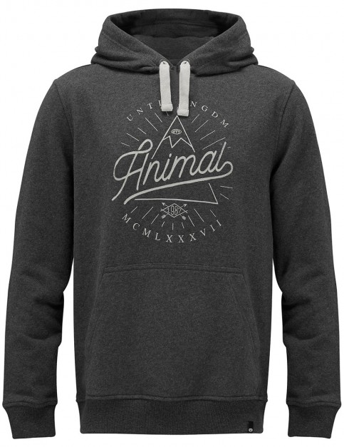 Animal Booth Pullover Hoody in Dark Charcoal Marl