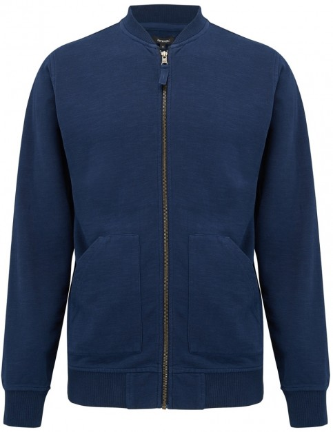 Animal Branksome Full Zip Fleece in Dark Navy