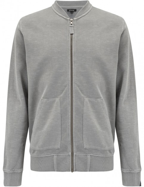 Animal Branksome Full Zip Fleece in Steel Grey