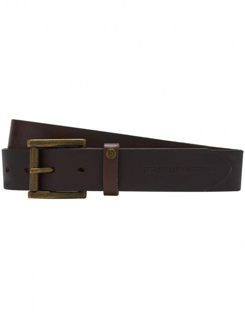 Animal Brodi Leather Belt in Tan