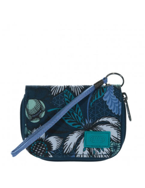 Animal Buzios Polyester Wallet in Marina Blue