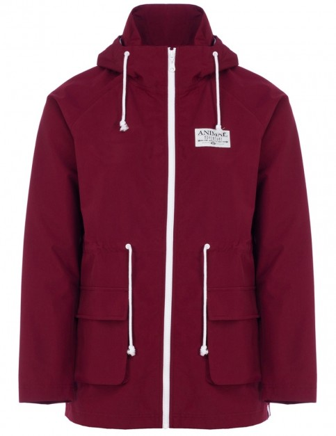 Animal Byron Rain Jacket in Bordeaux Red