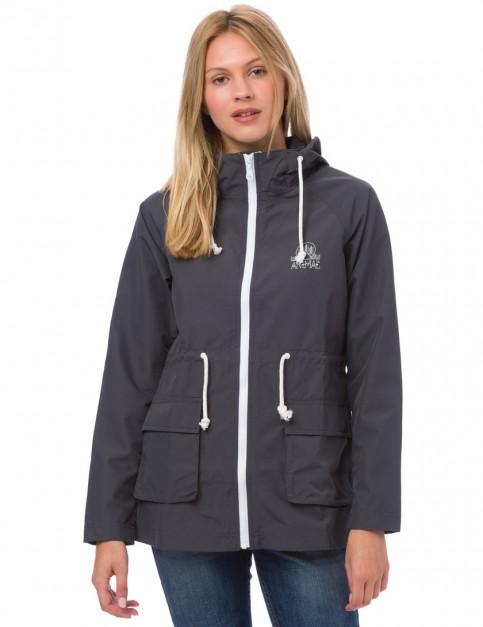 Animal Byron Rain Jacket in Asphalt Grey