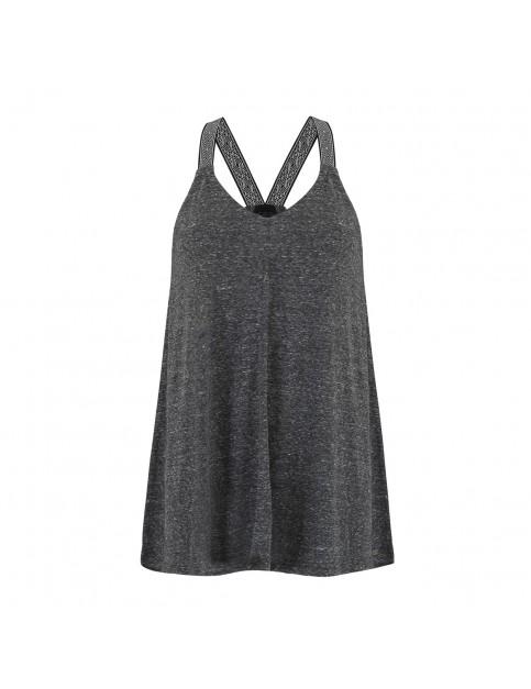 Animal Casey Sleeveless T-Shirt in Black Marl