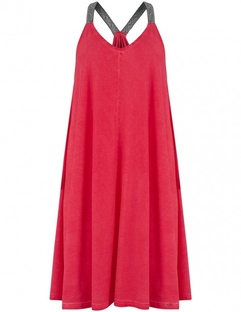 Animal Caseytwo Dress in Cranberry Red