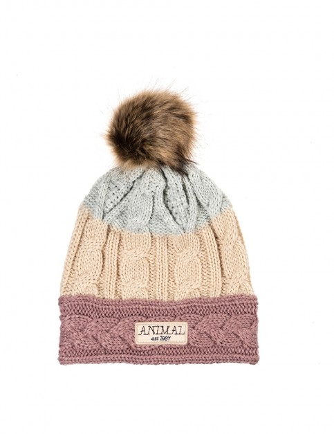 Animal Celise Bobble Hat in Woodrose Pink