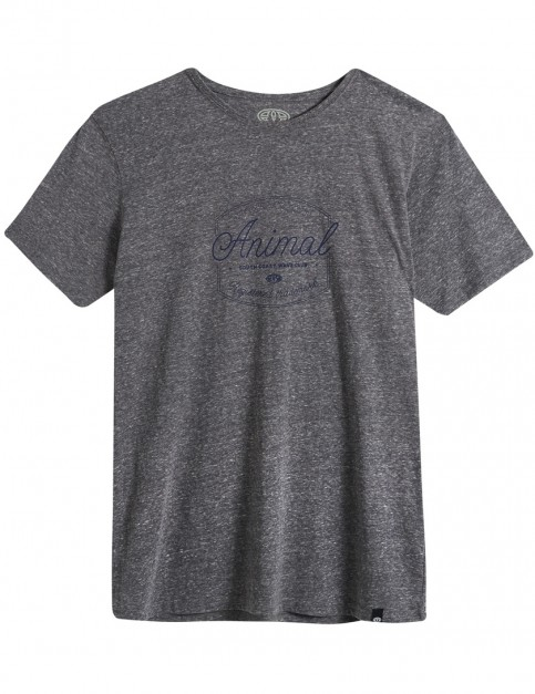 Animal Chase Short Sleeve T-Shirt in Grey Marl