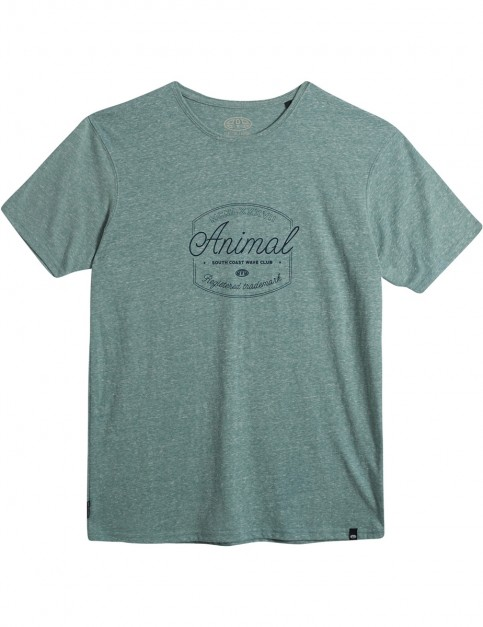 Animal Chase Short Sleeve T-Shirt in Oil Blue Marl