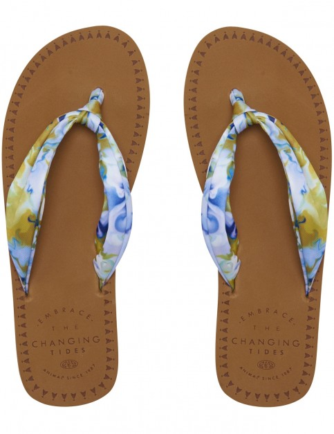 Animal Cilla Flip Flops in Snorkel Blue