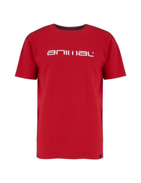 Animal Classico Short Sleeve T-Shirt in Rich Red