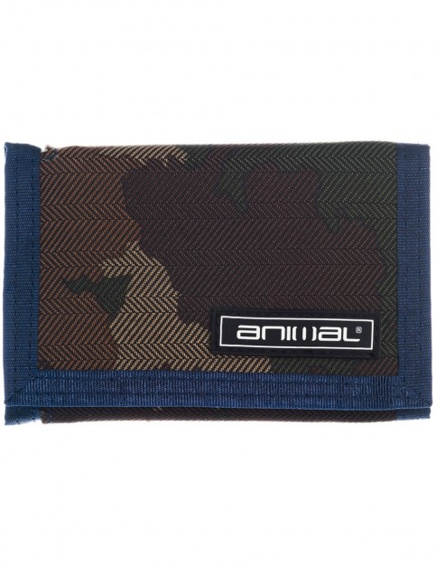 Animal Cley Polyester Wallet in Camo Green