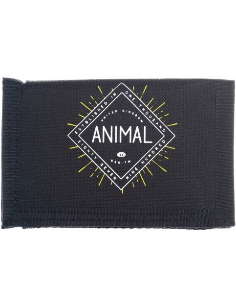 Animal Clifton Polyester Wallet in Black