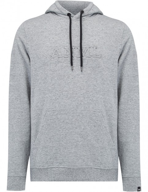 Animal Content Pullover Hoody in Grey Marl