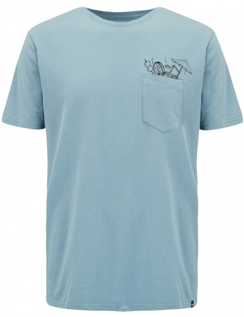 Animal Copacabana Short Sleeve T-Shirt in Smoke Blue
