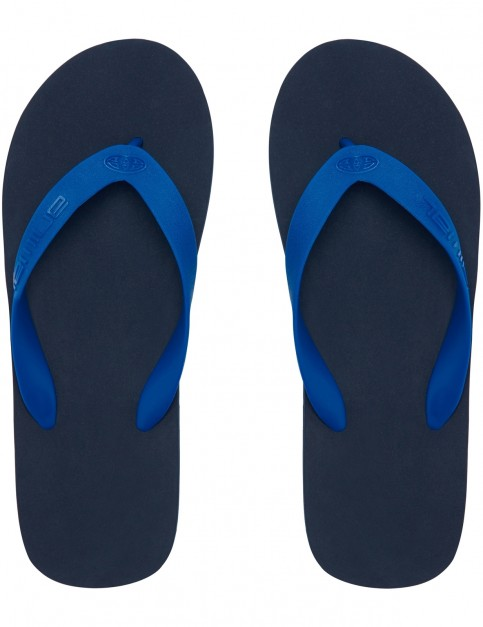 Animal Costaz Logo Flip Flops in Dark Navy