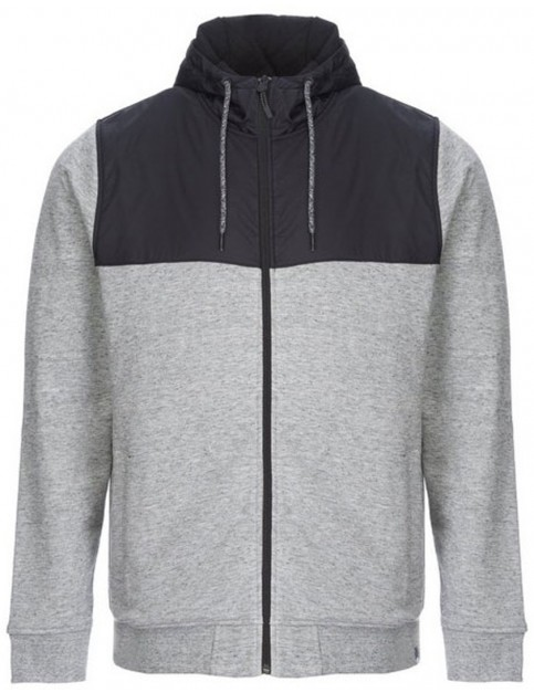 Animal Crawford Zipped Hoody in Light Grey Marl