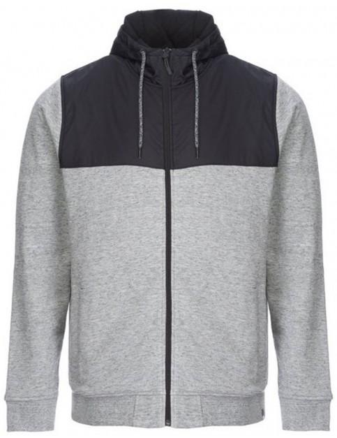 Animal Crawford Zipped Hoody in Light Grey Marl