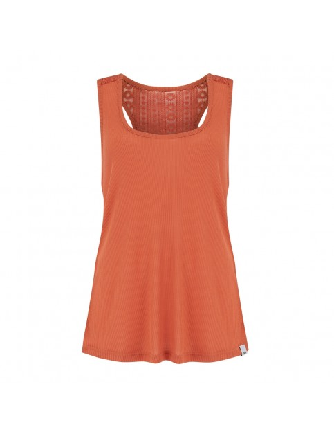 Animal Daily Sleeveless T-Shirt in Terracotta Red