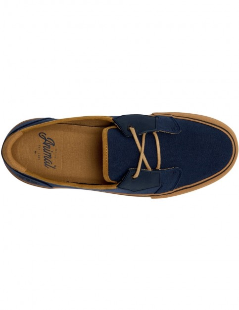 Animal Dealer Deck Shoes in Dark Navy