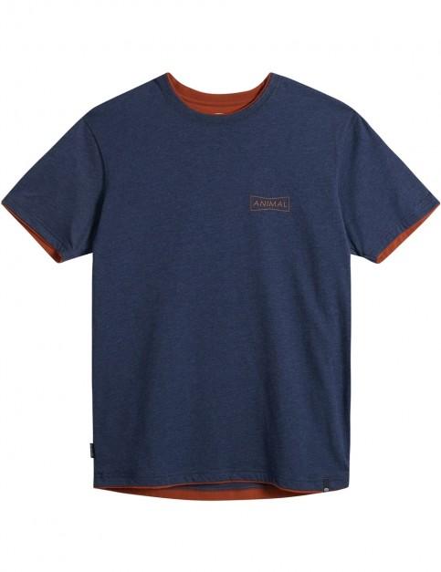 Animal Delano Short Sleeve T-Shirt in Dark Navy Marl