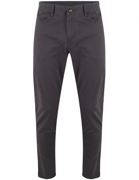 Animal Dexter Chino Trousers in Asphalt Grey
