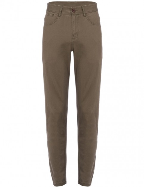 Animal Dexter Chino Trousers in Dark Olive Green