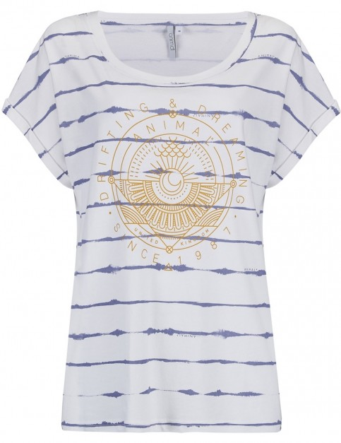 Animal Drift Circles Short Sleeve T-Shirt in White