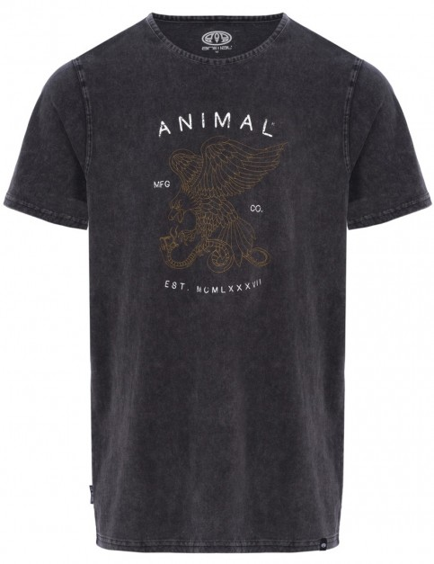 Animal Eagle Short Sleeve T-Shirt in Black