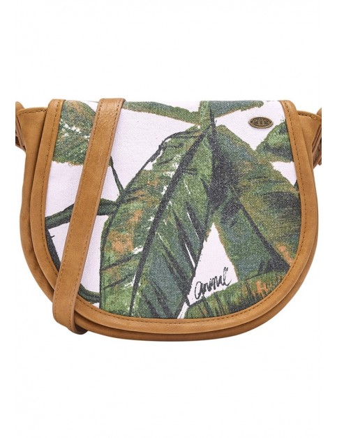 Animal Edge Cross Body Bag in Leaf Green
