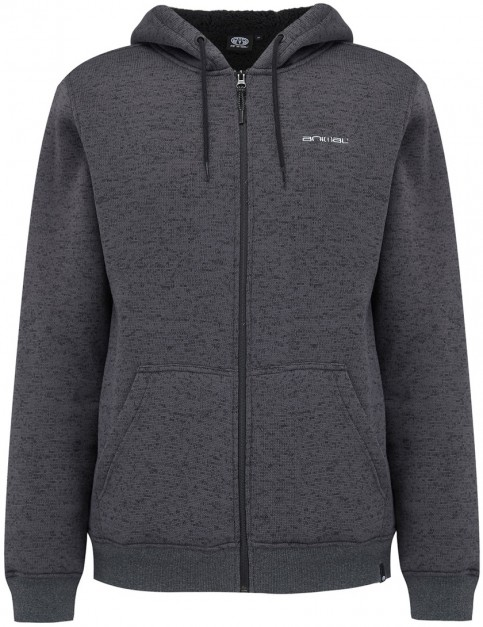 Animal Elder Full Zip Fleece in Dark Charcoal Marl