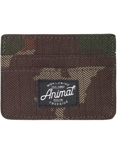 Animal Emphatic Polyester Wallet in Camo Green