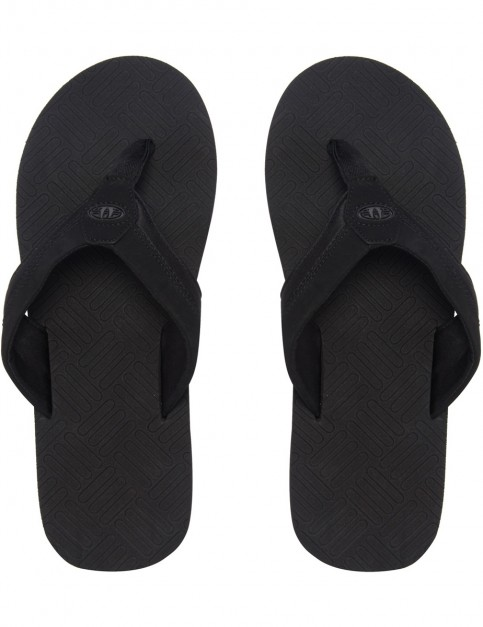 Animal Engraved Flip Flops in Black